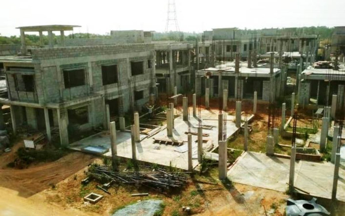Adarsh Palm Acres construction status
